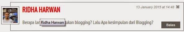 Masa, Penghasilan dan Kesimpulan Blogging