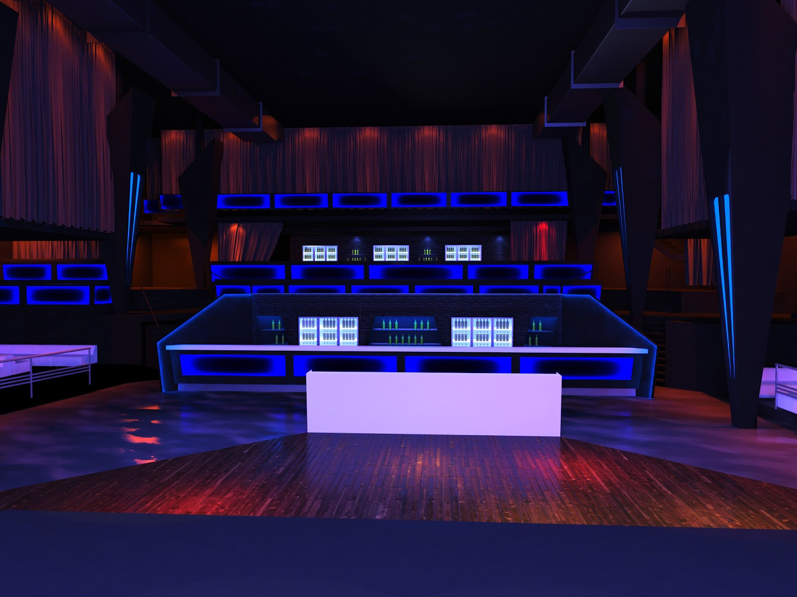 interior design portfolio: Night club in Darwin-concept design and