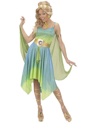 Smuk gudinde kostume
