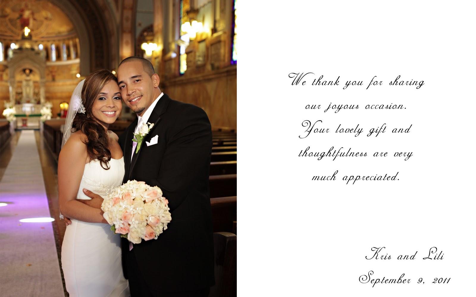 Wedding Photography and Cinematography Wedding thank you card sample – Thank You Cards Wedding Photo