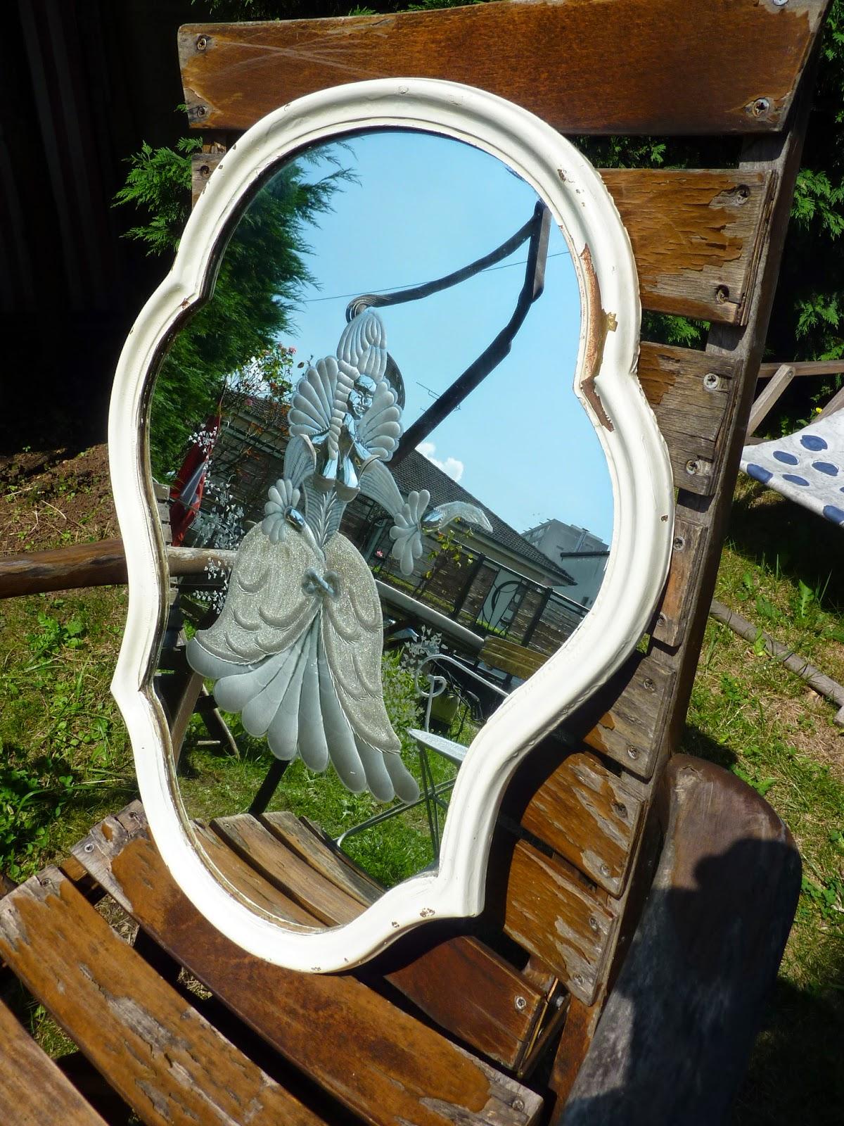 Les dedees vintage recup creations miroir marquise - Marquise pour cadre photo ...