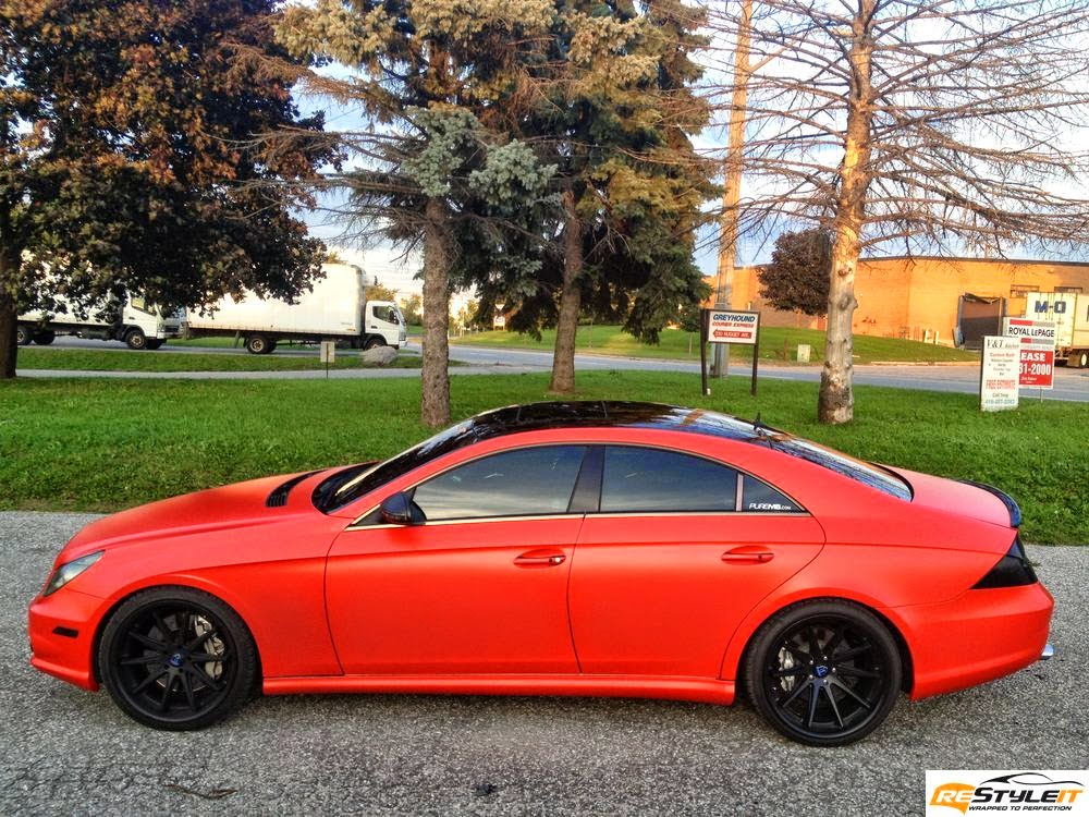 Mercedes Benz C219 Cls55 Amg Matte Red on 2013 mercedes benz e250