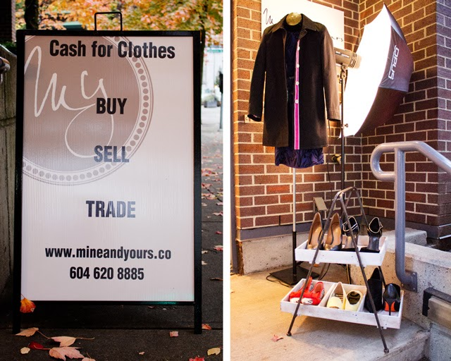 Mine and Yours Co Recycled fashion consignment boutique Vancouver