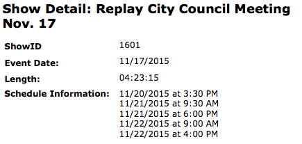 A Bubbling Cauldron Council Meeting Replay Schedule