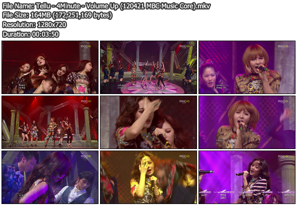 [Perf] 4Minute   Volume Up @ MBC Music Core 120421