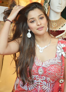 Madhurima in Red Chaniya CHoli Spicy Look at Neeru Dilsukh Nagar Spicy Babe Madhurima