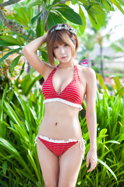 Heo-Yun-Mi-Red-and-White-Bikini-05-very cute asian girl-girlcute4u.blogspot.com