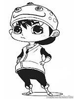 Gambar Film Kartun Animasi BoboiBoy Terbaru Untuk Diwarnai