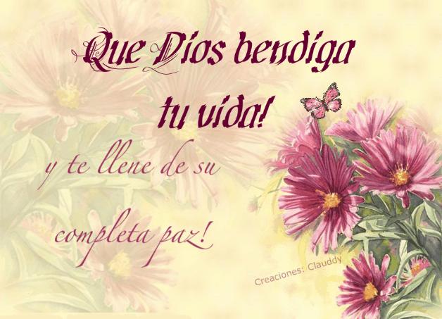 Que Dios te Bendiga ¡que Dios Bendiga tu Vida y te