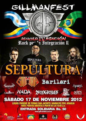 Sepultura GillmanFest Aragua 2012