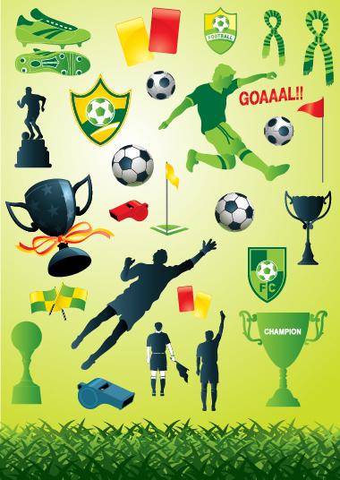 ワールドカップ サッカーをテーマにしたクリップアート World Cup Football theme vector イラスト素材2