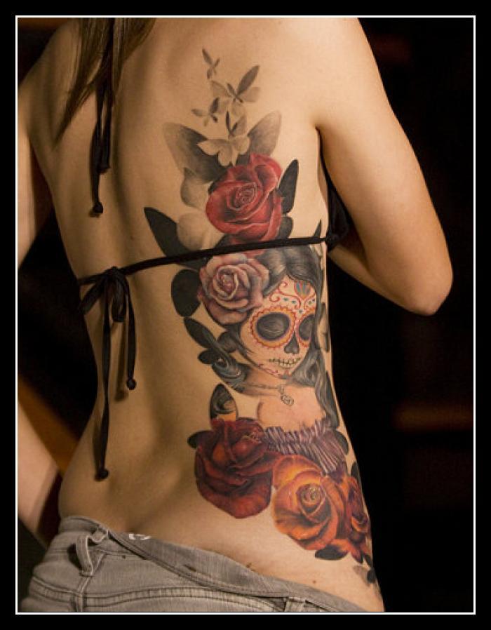 Skull Rose Tattoo