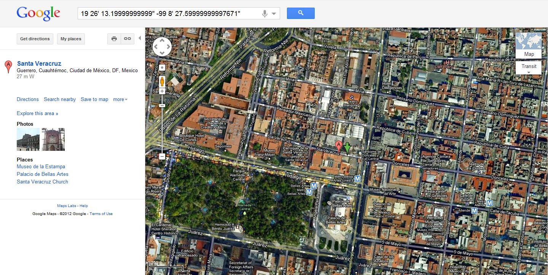 Simon PG Edwards Howto Use GPS Coordinates With Google Maps - Map with latitude and longitude google