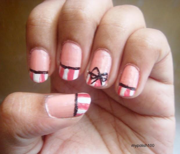 bow nail design - pccala