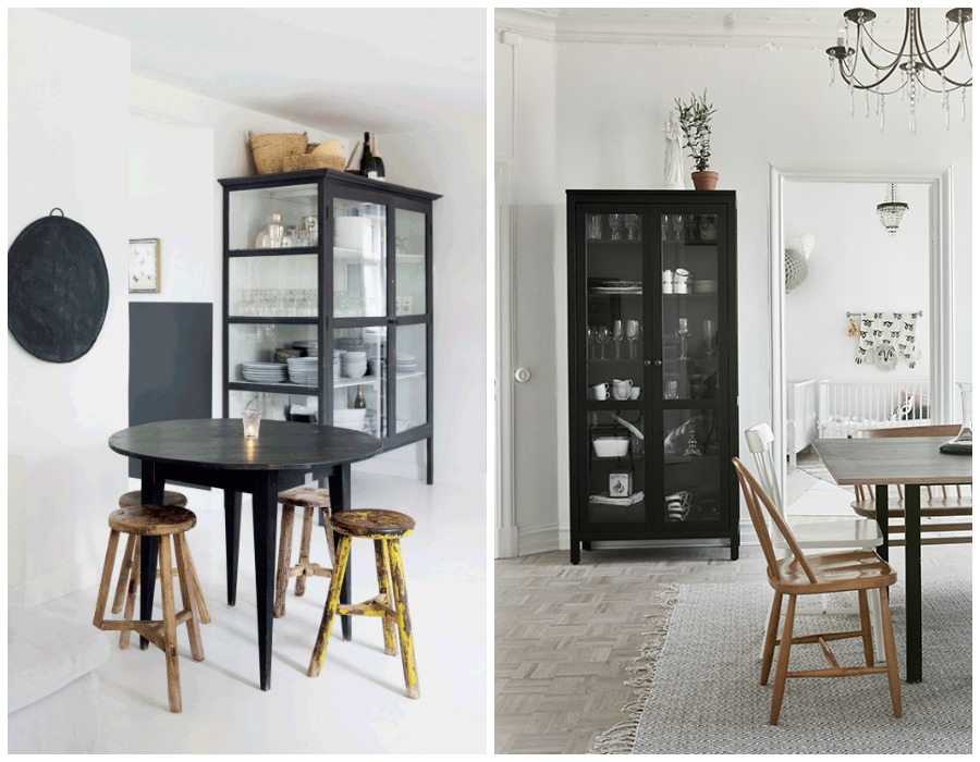 Decoración Fácil Mobiliario negro de anticuario en estilo nórdico