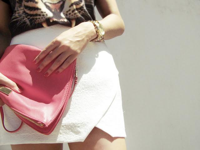 Mini falda asimétrica de Zara