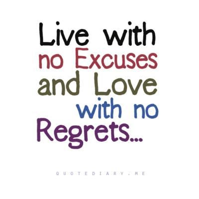 my psychological domain no excuses no regrets
