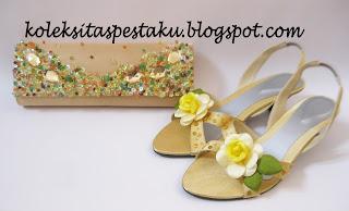 Sepatu Pesta Bunga dan Tas Pesta Model Terbaru Harga Murah Kualitas Awet