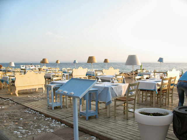 Terrace in Nikiti, Greece