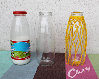 Charry Bottles with crocheted cover for wedding