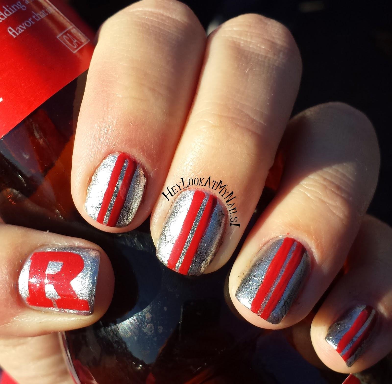 Hey Look At My Nails College Football Nail Art Ft My Sister