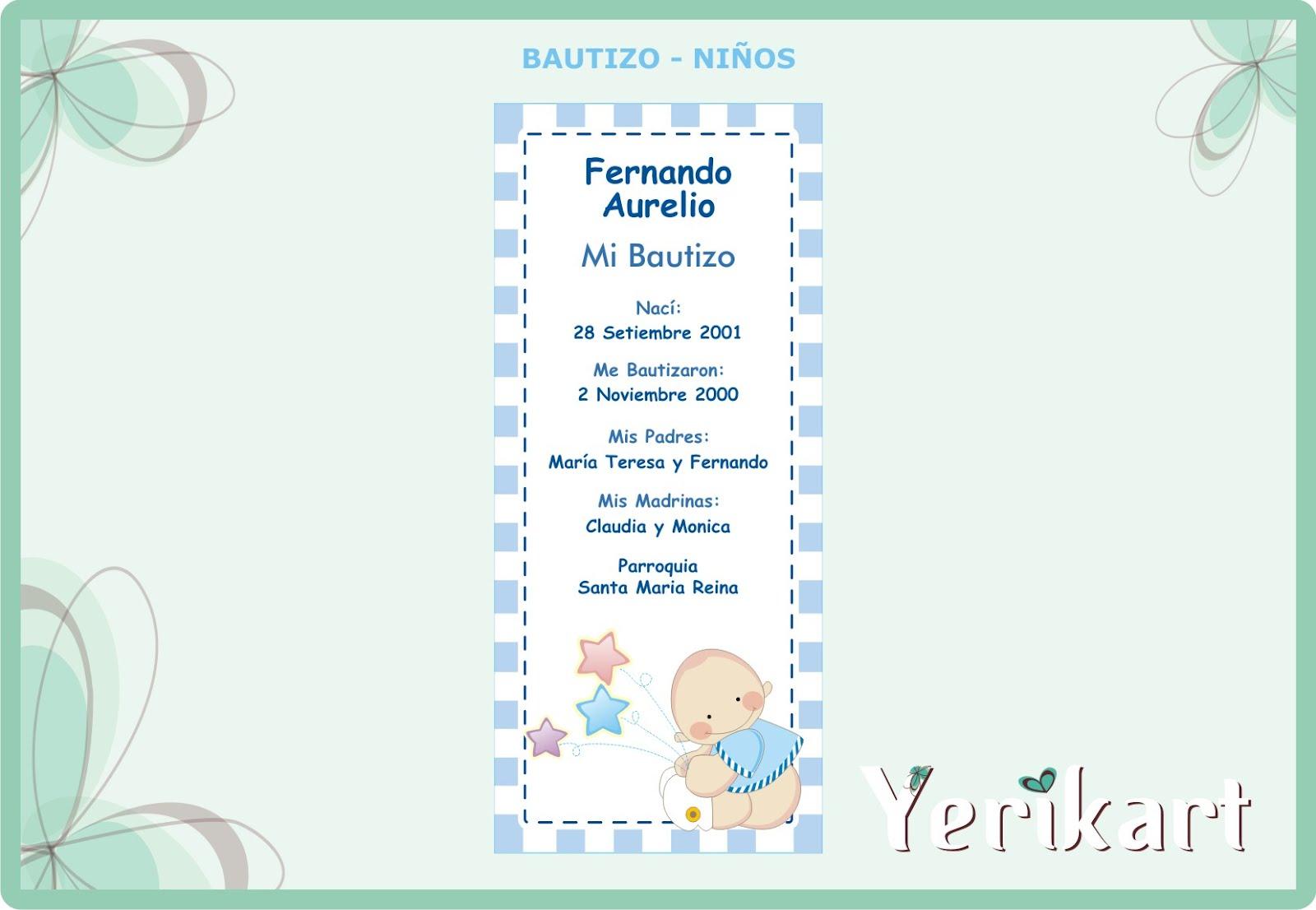 Tarjetas De Agradecimiento Para Bautizo