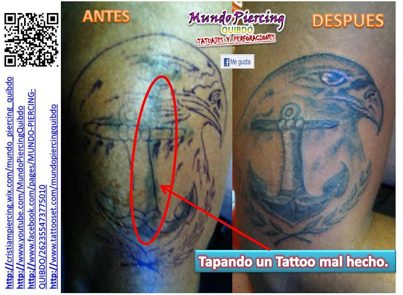 Cover up (encubrimiento) / Arab Name Tattoo (Tatuaje Nombre en Árabe) title=