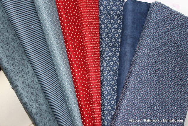 Colección Old Glory Gatherings de Moda Fabrics - Vilabors