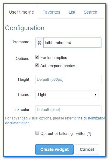 Add twitter widget