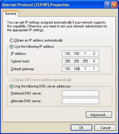 TCP IP Properties user XP