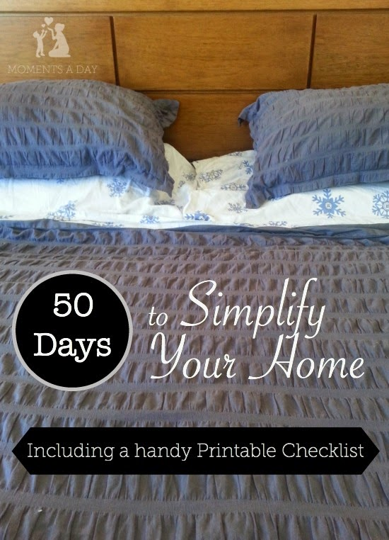 DIY All Things: 50 Days to Simplify Your Home (Printable Checklist)