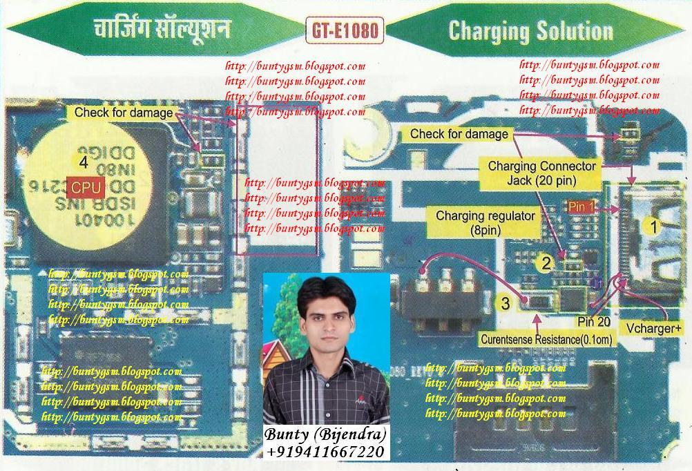 Samsung E1080, E1081, E1085 Charging Solution By BuntyGSM Mobile
