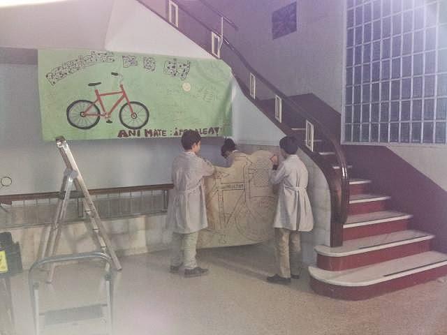 Rincón de la bici del Colegio Jesús Maestro