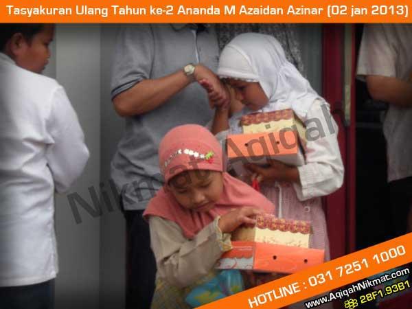 Tasyakuran Ulang Tahun ke-2 M Azaidan Azinar