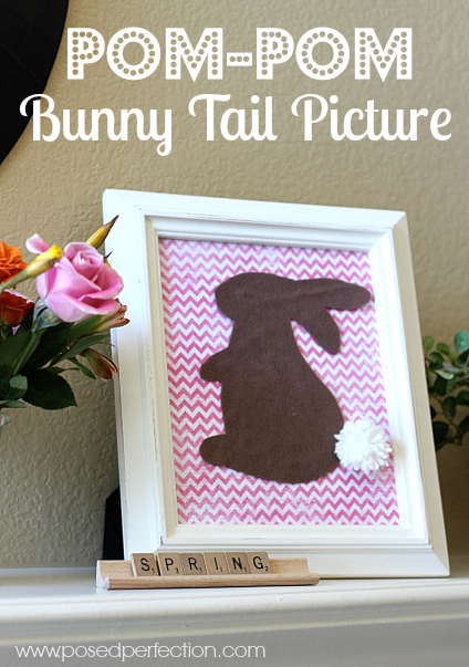 Just a few supplies are all you need to make this adorable Pom-Pom Bunny Tail Picture!