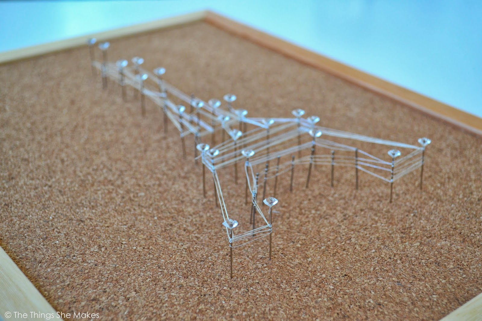 How to make a pin and thread eiffel tower the things she for Stuff to make with string