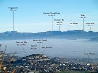 Zoom al Puigsacalm i a la Serra de Cabrera