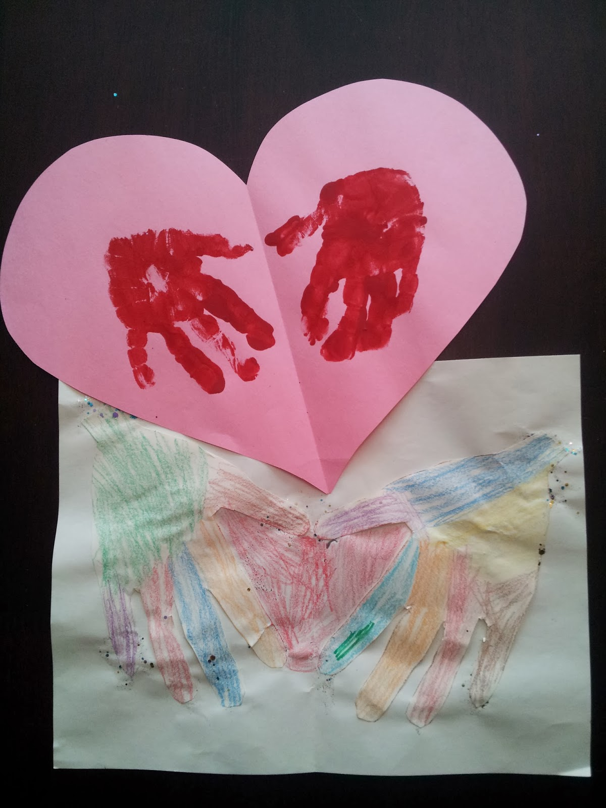 """My Heart's In Your Hands"" handprint Valentine cards, Valentine's Day crafts, kids crafts"