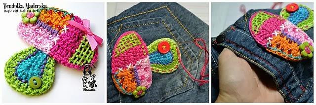 crochet mushroom applique pattern