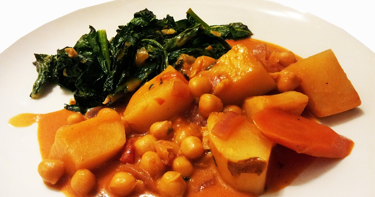 A Profound Hatred of Meat: Red Curry Chickpeas & Garlic Kale