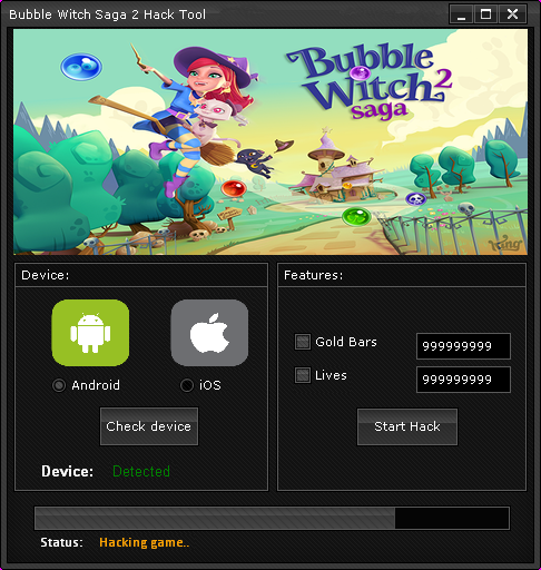 cover Bubble Witch Saga 2 Hack 2.4 download free for Android/Ios