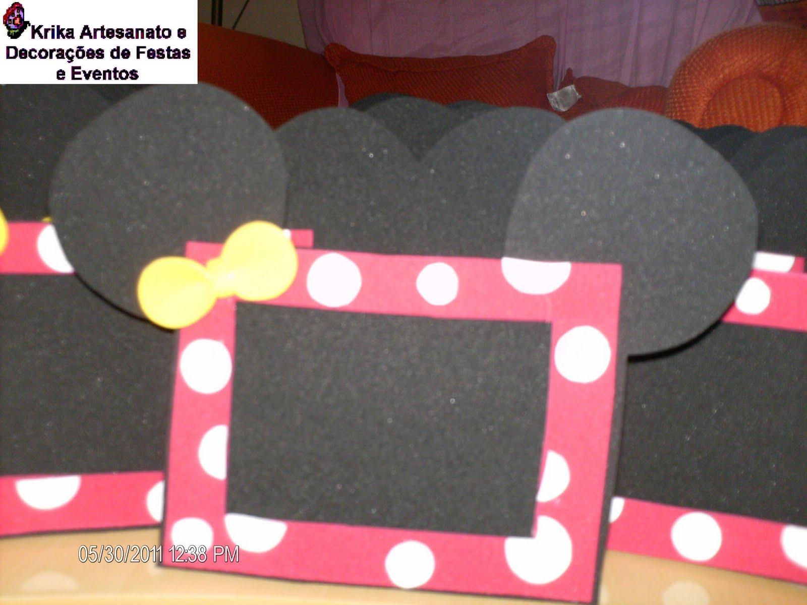 Porta Retratos Tema Minnie   Lembrancinhas Para Festa Infantil Tema