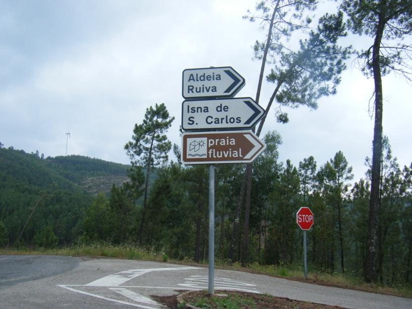 Saída para Aldeia Ruiva, Isna de S. carlos e Praia Fluvial