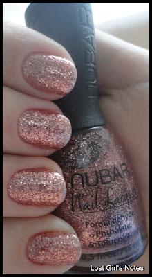 nubar pink glitter swatches