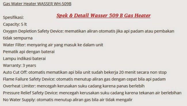 spek pemanas air 509  wasser menggiurkan