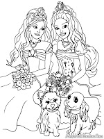 Barbie And The Diamond Castle Printable Kids Coloring Pages