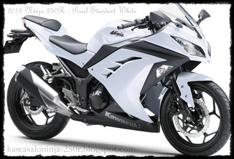 2013 Kawasaki Ninja 250R White color
