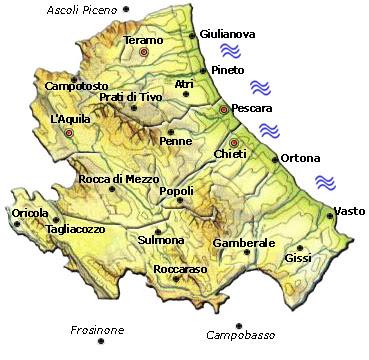 Cartina Politica dell Abruzzo