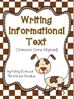 http://www.teacherspayteachers.com/Product/Writing-Informational-Text-Common-Core-Aligned-556891
