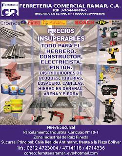 FERRETERIA COMERCIAL RAMAR, C.A. en Paginas Amarillas tu guia Comercial